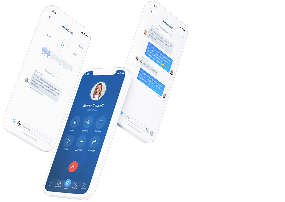 Telzio's mobile app