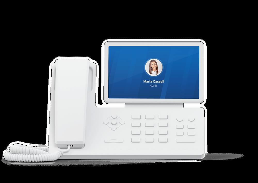 Yealink desk phone with Telzio.