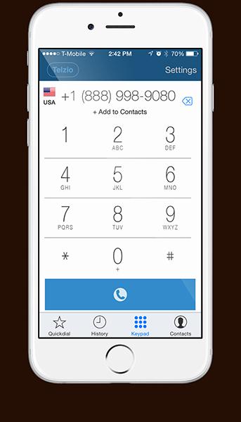 Telzio's Mobile Softphone App
