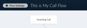 Screenshot of Telzio's Call Flow Editor