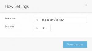 Screenshot of Telzio's Call Flow Settings