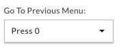 Go to previous menu
