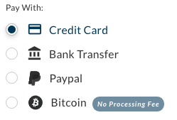 Choose payment method