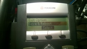 Save & Reboot