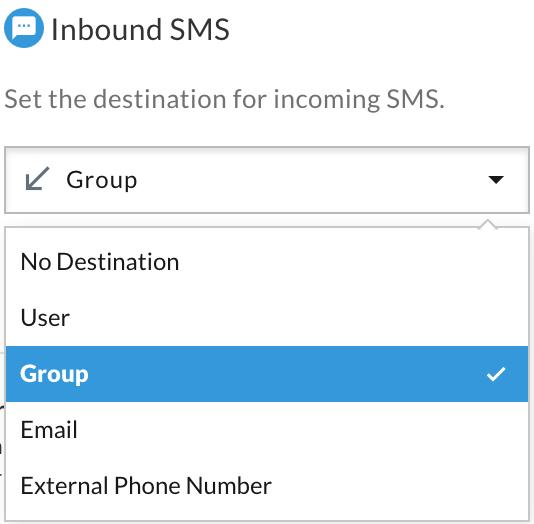 Inbound SMS