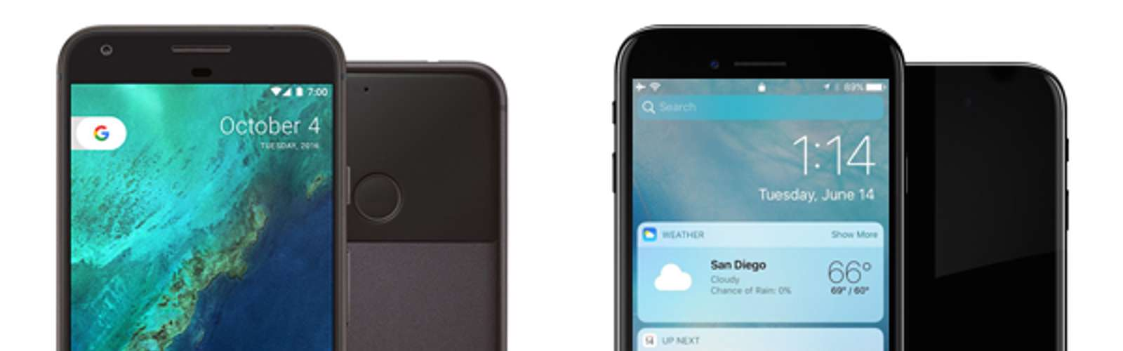 Google Pixel vs iPhone 7