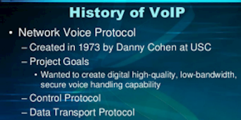 A History of VoIP