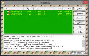 TFTP activity log