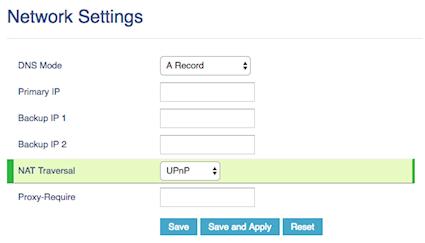 Change network settings