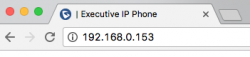Type in IP address