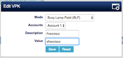 Setup BLF settings