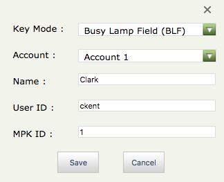 Setup BLF keys