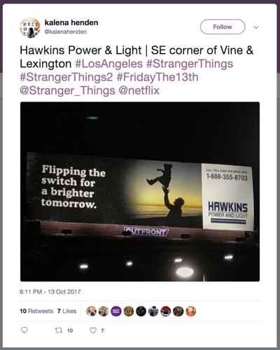 Stranger Things marketing campaign billboard