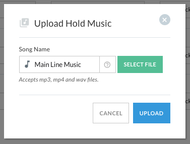 Upload custom hold music to your Telzio phone system
