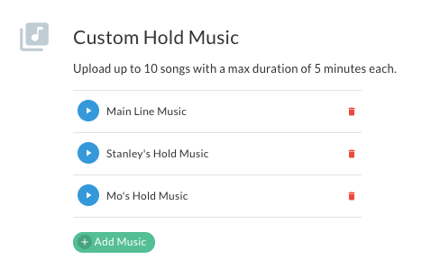 Custom hold music on Telzio phone system