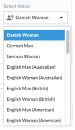 Telzio text-to-speech languages