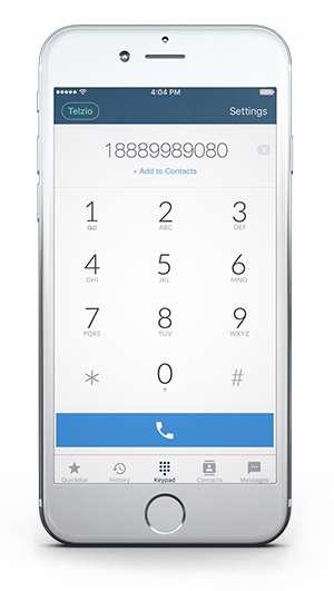 Telzio Mobile App