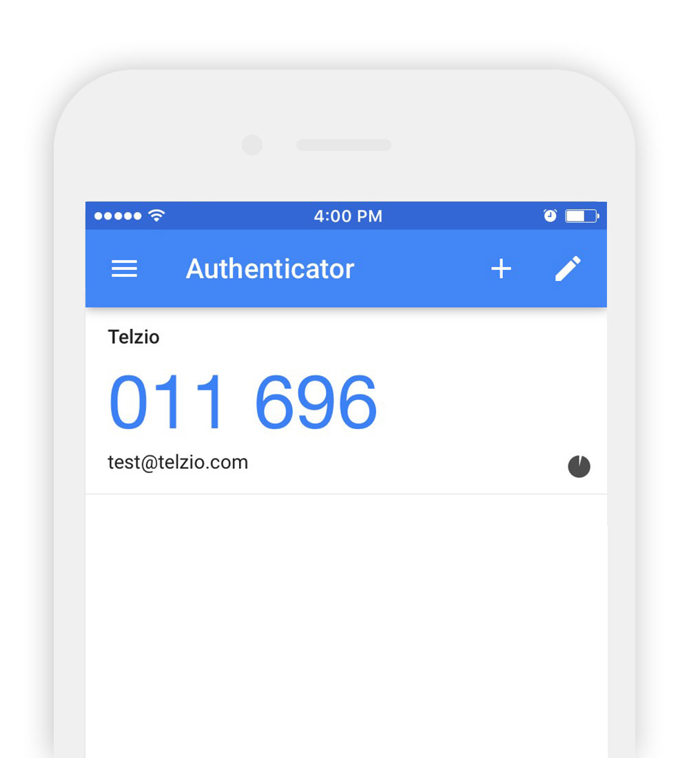 Google's Two Factor Authentication App Example.