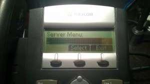 Select server menu