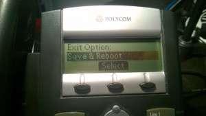 Save & Reboot